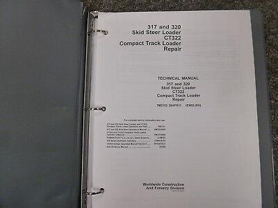 John Deere 317 320 Skid Steer Ct322 Loader Shop Service Repair Manual Tm2152