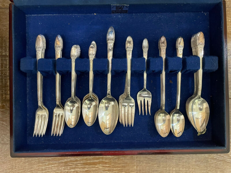 """Vintage """"1847 Rogers Brothers"""" Silver Plated Flatware Set"""