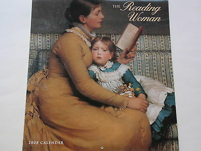 2008 The Reading Woman Calendar Women Art Literary Passages 12 Images Big Pages ()