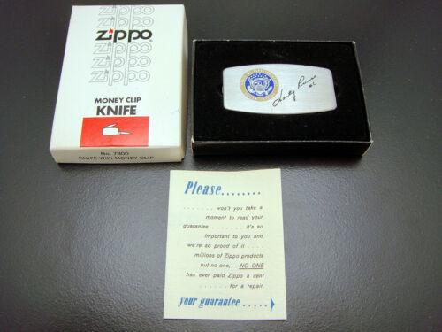 Vintage Zippo Money Clip Knife Marty Russo House Of Representatives Illinois