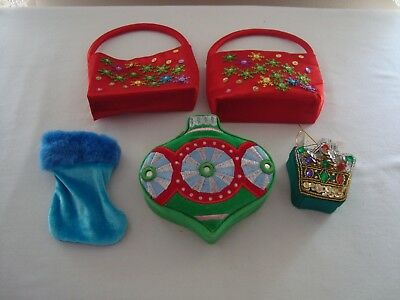 5 Small Christmas Themed Gift Containersboxesholders Novelty Jewelry Gift Card