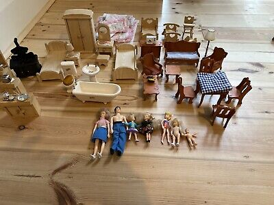 Vintage Dolls House Furniture - Full House