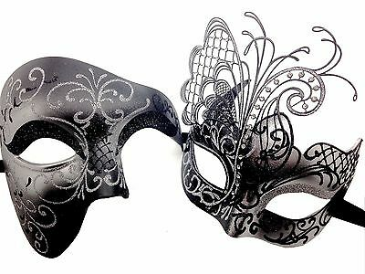 Men Women Venetian Butterfly and Half Face Phantom Masquerade Prom Mask