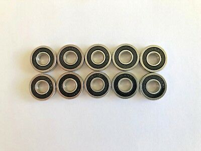 10 Pcs R4 2rs Double Rubber Sealed Ball Bearing 14x 58x 0.196 Inch