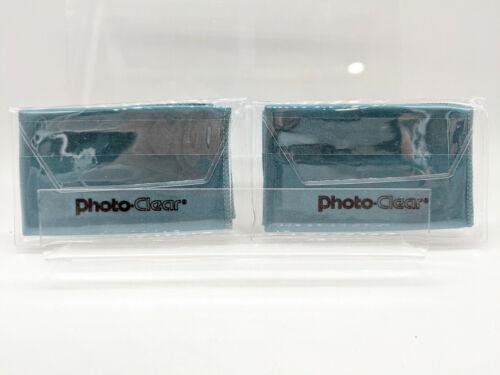 "Schneider 7x7"" Photo Clear Microfiber Lens Green Cleaning Cloth Set 2 Cloths"
