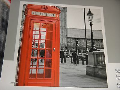 (LONDON RED PHONE BOOTH~ENGLAND~Photo Real Throw Silky Fleece Blanket 50