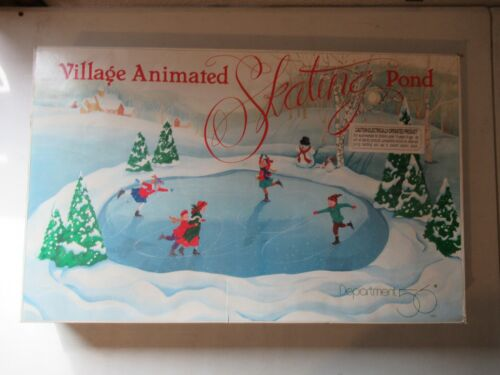 Dept 56 Village Animated Skating Pond Replacement Piece YOU PICK