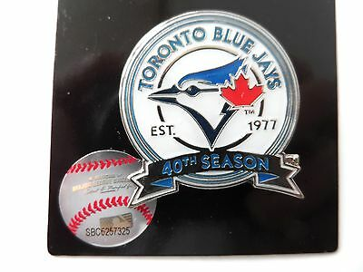 Official TORONTO BLUE JAYS 40th SEASON Enamel Baseball LOGO PIN BADGE MLB Canada