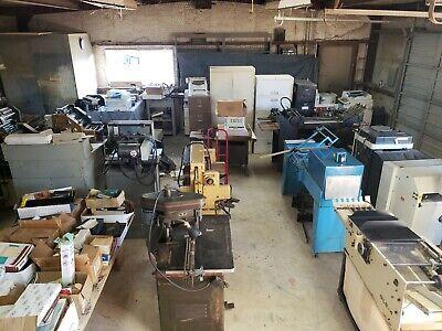Shop Full Of Printing Equipment. Make Your Best Offer