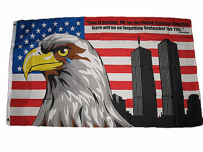3x5 NEVER FORGET 9-11 FLAG SEPTEMBER 11 11th 911 USA 3X5 36X60 INCHES