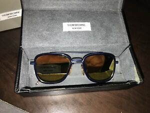 Thom Browne TB-800 Navy and Gold (Rare).