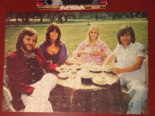 ABBA Vintage Jigsaw Puzzle Complete 224 pieces Whitman 7712 1976 Polar Music