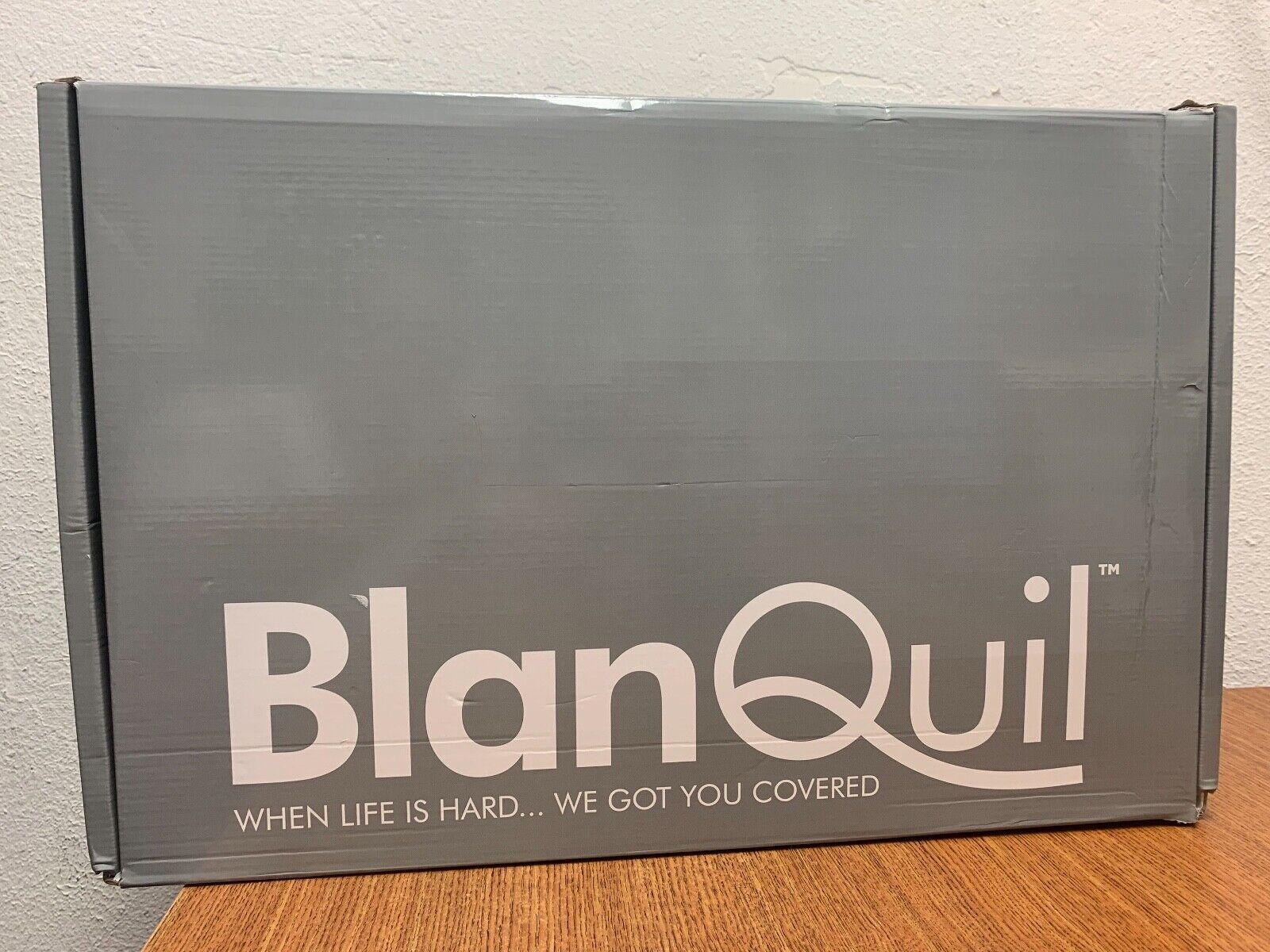 New BlanQuil Quilted Weighted Heavy Blanket 15 Lb Grey Thera