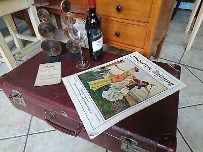 alter Koffer Nachttisch Beistelltisch Lausitzer Koffer Vulkan Fieber