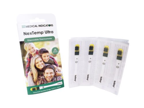 Box of 24 NexTemp Ultra Disposable Thermometer Latex Free Accurate Easy to Read