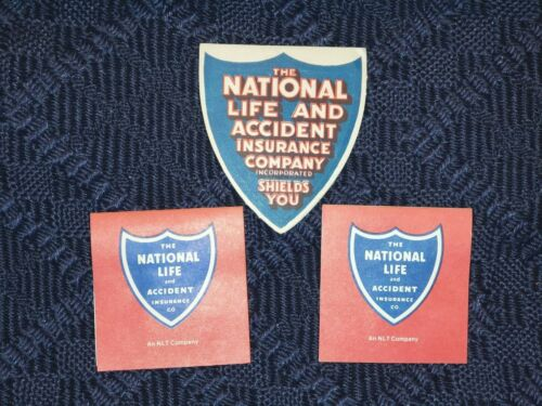 Vintage Lot of 3 NATIONAL LIFE ACCIDENT INSURANCE CO. Sewing Needle Packs (B)