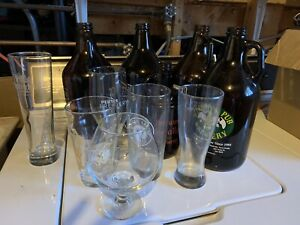 Growlers and glasses