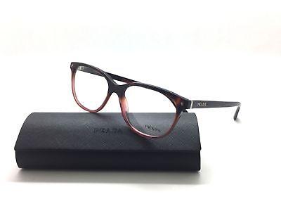 Prada Women's Red Wine Havana VPR14R TWC-1O1  Eyeglasses Frame 54MM