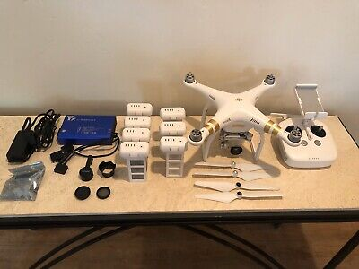DJI Phantom 3 Professional Pro 4k Quadcopter RTF GPS Camera Drone + 7 Batteries