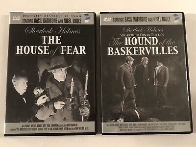 Sherlock Holmes The Hound of the Baskervilles & The House Of Fear DVDs Rathbone