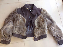 Vintage rabbit fur and leather jacket sz 10 Hope Valley Tea Tree Gully Area Preview