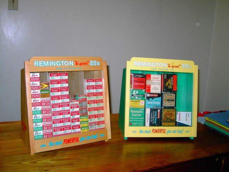 "Remington  merchandisers 22 ammo display case  12"" X 12"" aprox.size"