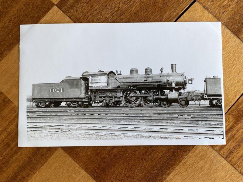 Chicago North Western Railroad Locomotive 1021 Vintage Photo C&NW