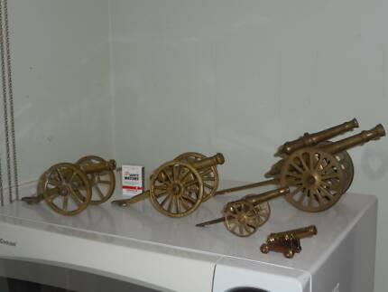 Vintage Brass Cannons Collection