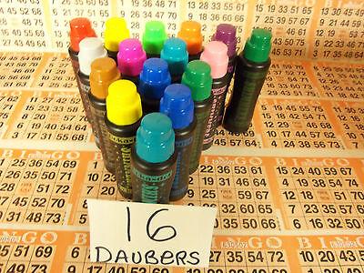16PK OF SPARKLE/SHIMMER BINGO DAUBERS! NEW BLACK BOTTLES