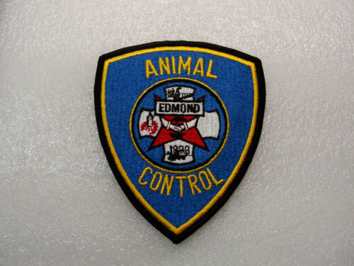 Collectible ANIMAL CONTROL PATCH Edmond OKLAHOMA Plastic Backed PATCH