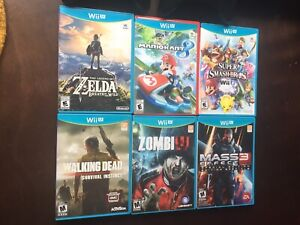 Wii U, 2 pro cntlrs, 12 games (350) offers on games okay