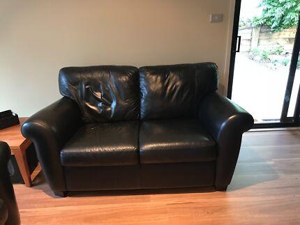 Natuzzi Italian Two Seater Soft Leather Lounge