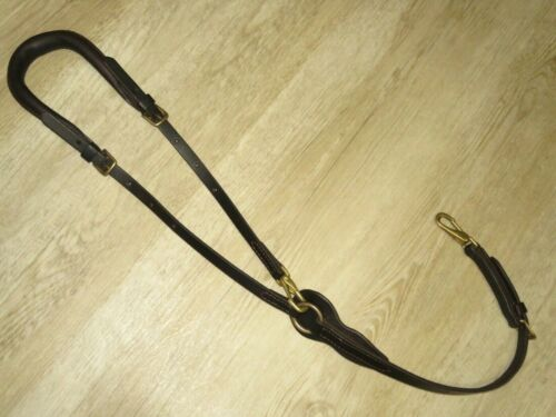 BILLY ROYAL Dark Oil Adjustable Leather Crupper - Padded Tail Loop - MINT COND!