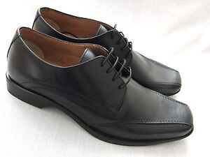 NEW-CLARKS-BUCKLEY-BLACK-LEATHER-FORMAL-SHOES-BNWT
