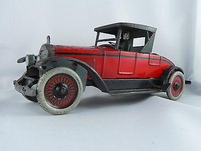 Antikes Spielzeug Blech Auto mit Federmotor 23cm