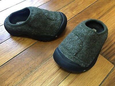 Toddler Felt - NEW Keen Baby Toddler Wool Felt Green Unisex Boy Girl Clog Slide Shoes Size 8