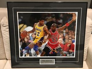 Autograph Magic Johnson Custom Framed 16x20 with COA by PSA/DNA