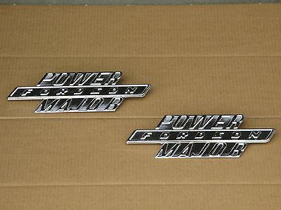 2 Metal Fordson Side Hood Emblems For Ford Power Major