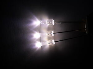 Warm White 2mm Tower (lighthouse LED) LED  x  20 ****NEW****