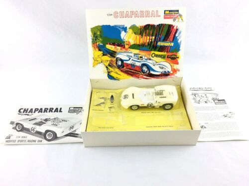 Monogram 1965 Chaparral 1/24 Model Racing Slot Car Kit SR2413 Super X-220 Motor