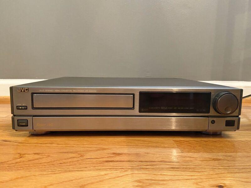 JVC HR-S6600U Super VHS SVHS Player Hi-Fi Stereo Video Cassette Recorder Silver