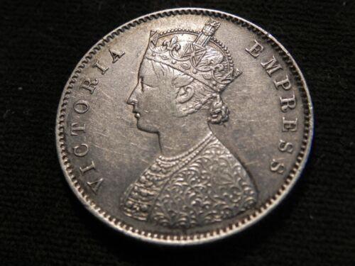 INDIA-BRITISH, 1/2 Rupee, 1899 C, KM #491, XF , Silver, 5.82