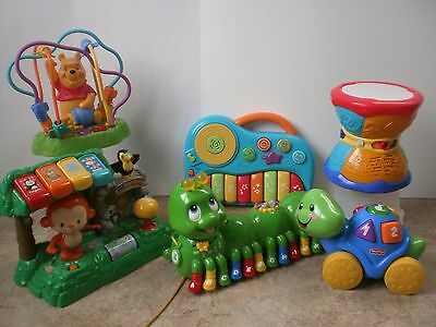 Baby Toddler Interactive 6 piece Toy Lot ~ Learning Developmental Musical