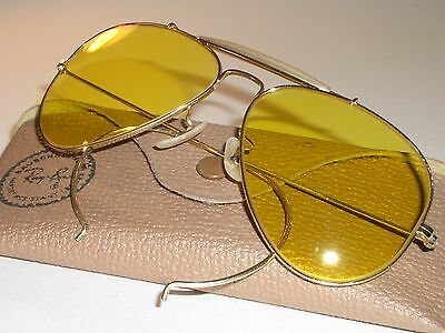 1960's 58MM B&L RAY BAN L0306 GP KALICHROME OUTDOORSMAN AVIATOR SUNGLASSES MINT!