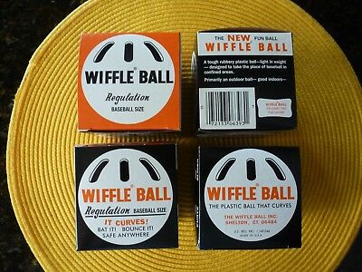 WIFFLE BALL Original Regulation Baseball Size Curve Training Lot of 4 NEW in Box](Plastic Balls In Bulk)