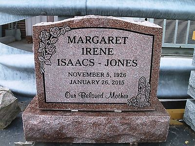 Cemetery headstone grave marker -morning rose- engraving included