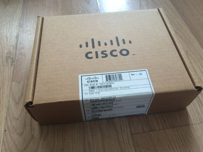 NEW Cisco VIC2-2FXO 2-Port High-Density Voice Fax Network Interface Card NOB