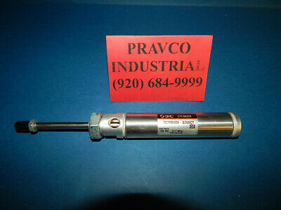 Smc Ncmb088-0200ct Pneumatic Air Cylinder 250psi 78 Bore 2 Stroke