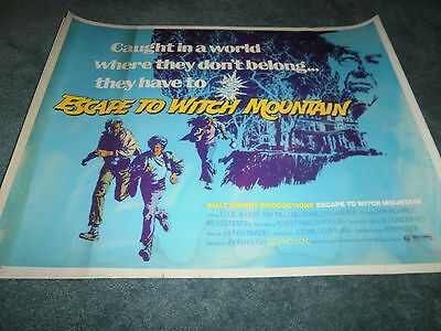 ESCAPE TO WITCH MOUNTAIN (R75) KIM RICHARDS DISNEY 1/2 SHEET POSTER ROLLED+