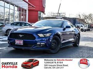 2016 Ford Mustang Coupe V6 1-Owner|Clean Carfax|Alloy Wheels|Blu